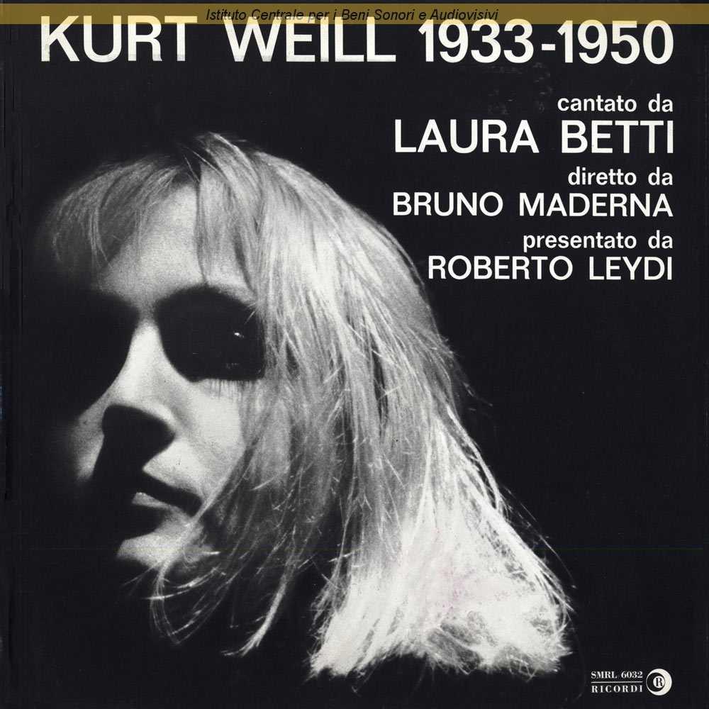 Laura Betti Kurt Weill 1933 1950