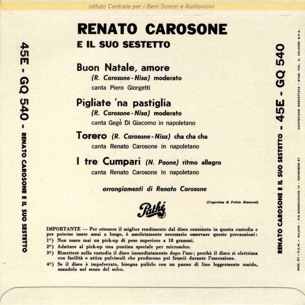 Buon Natale Napoletano.Discografia Nazionale Della Canzone Italiana