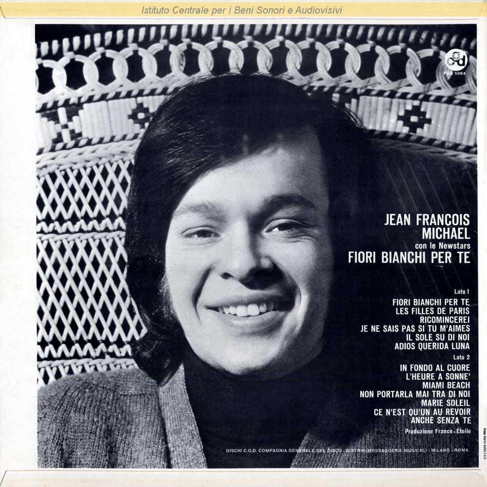 Fiori Bianchi Canzone.Discografia Nazionale Della Canzone Italiana
